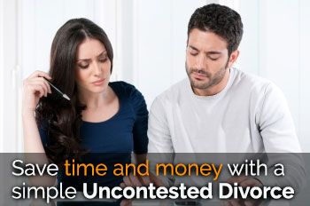 Save time and money with a simple Uncontested Divorce
