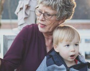 Grandma with grandson